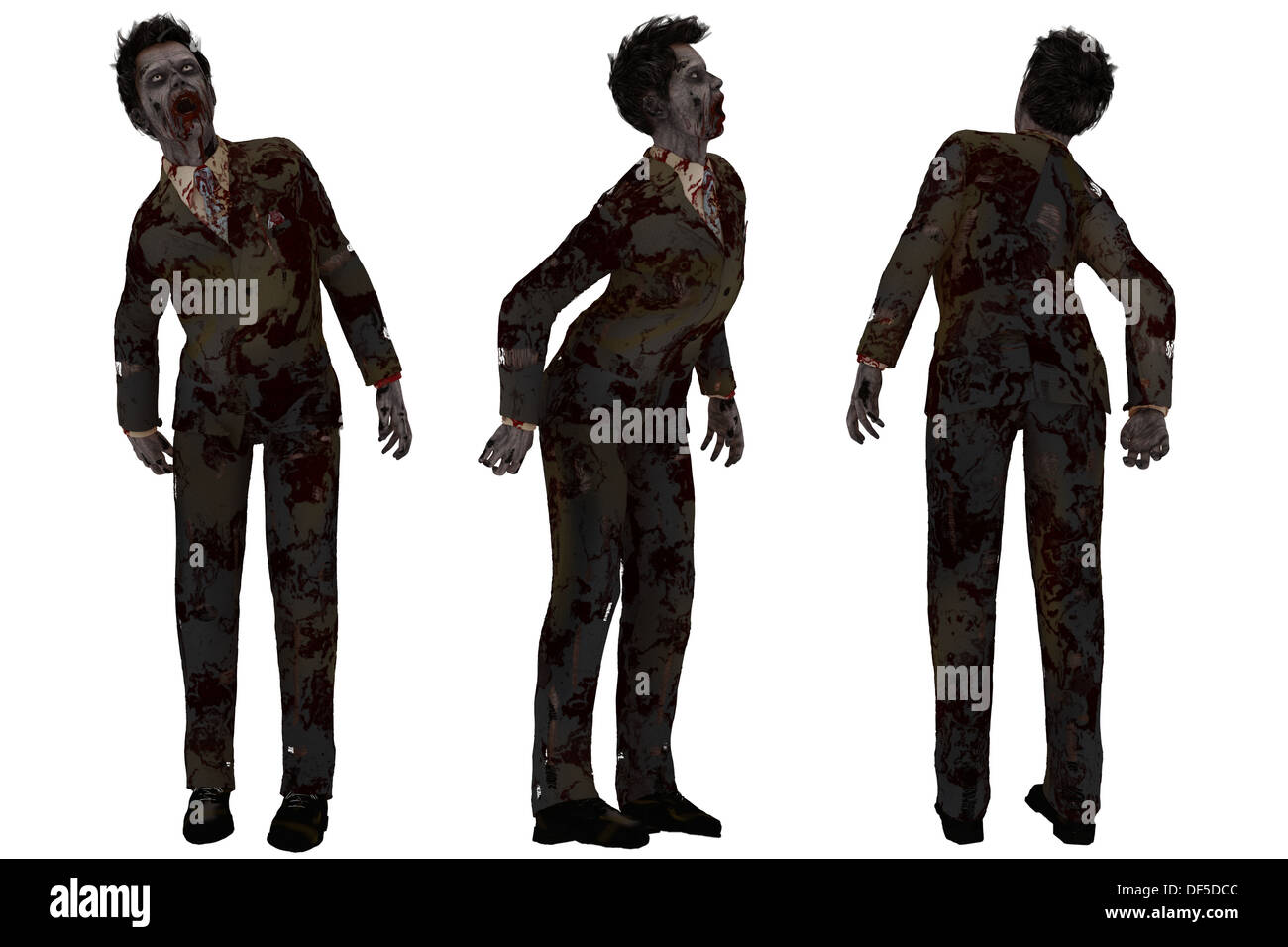 Zombie in business suit Stock Photo 60971244 , Alamy