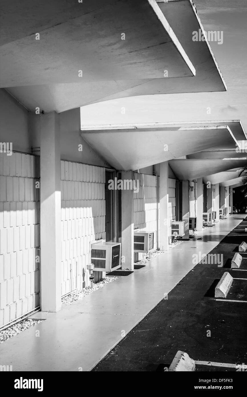 Warm Mineral Springs Motel in Florida dating from the late1950s Era - Stock Image
