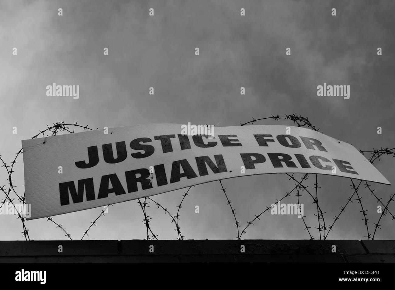 International Wall, West Belfast, UK. - Stock Image