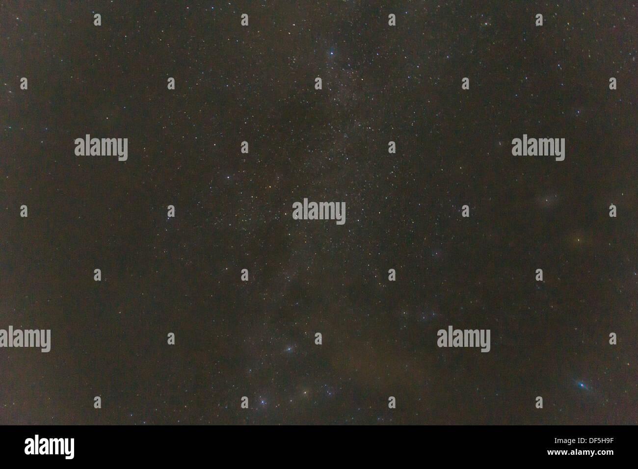 Stars at night at shining at the firmament - Stock Image