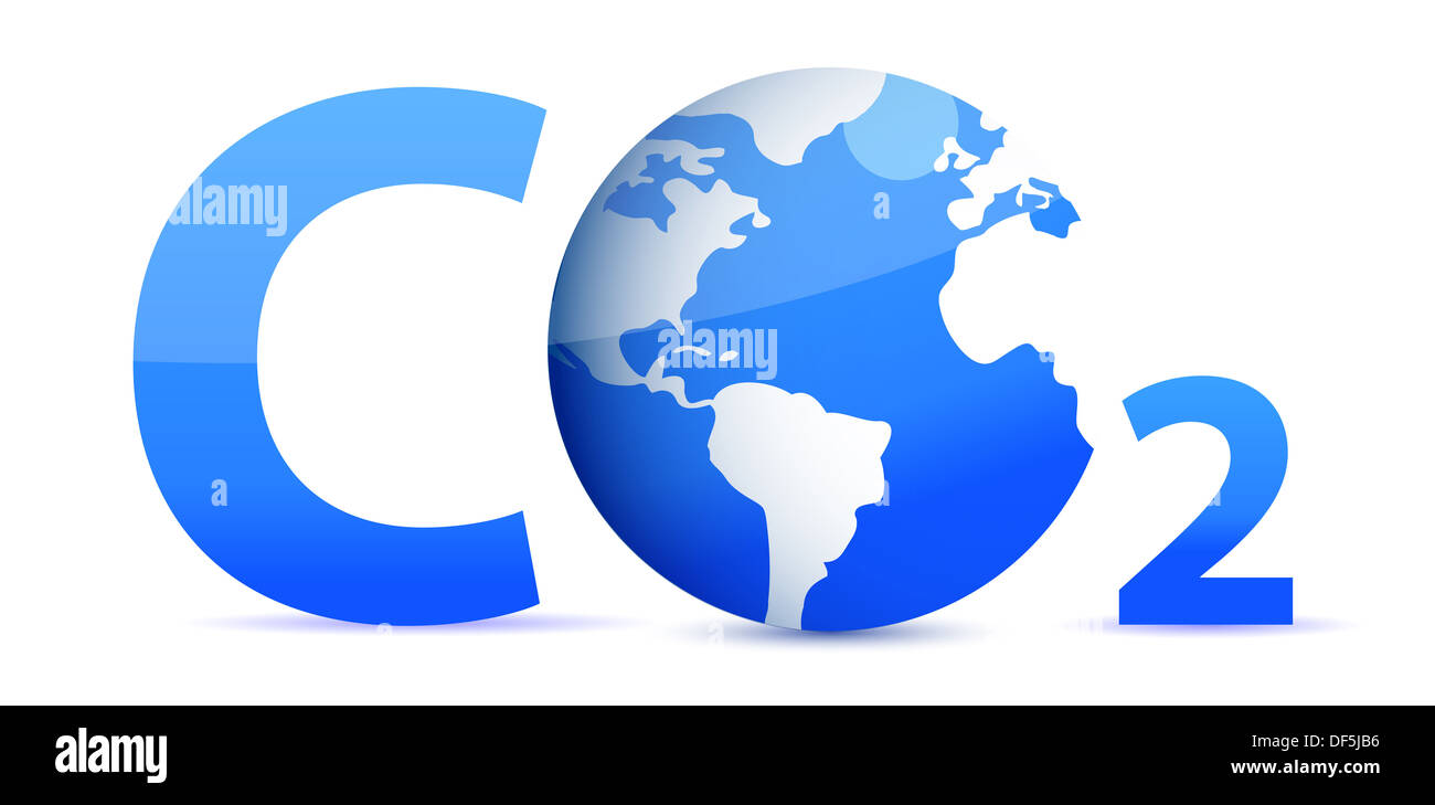 Chemical Symbol Co2 For Carbon Dioxide In Blue Stock Photo 60975130