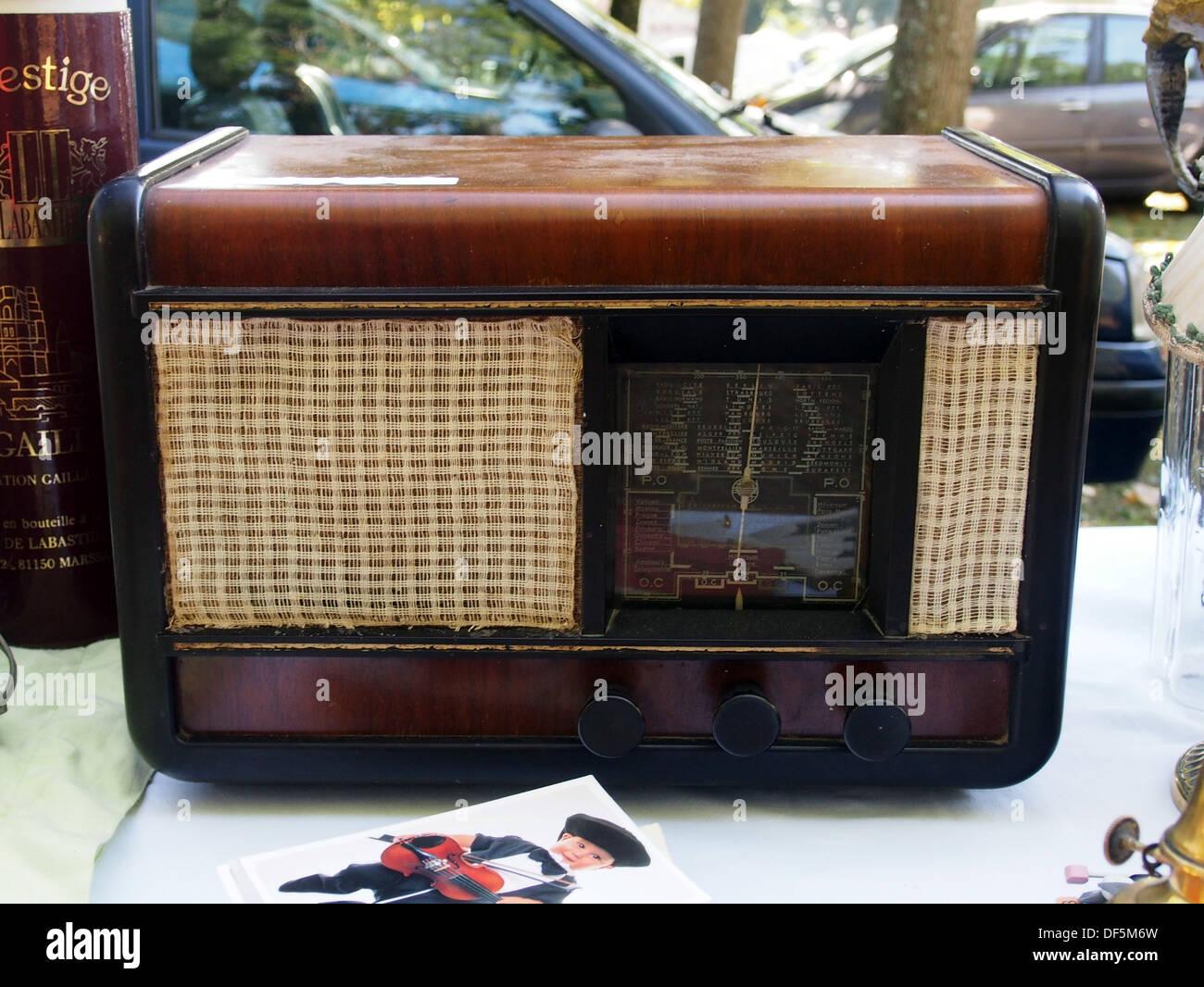 Old radio receiver - Stock Image