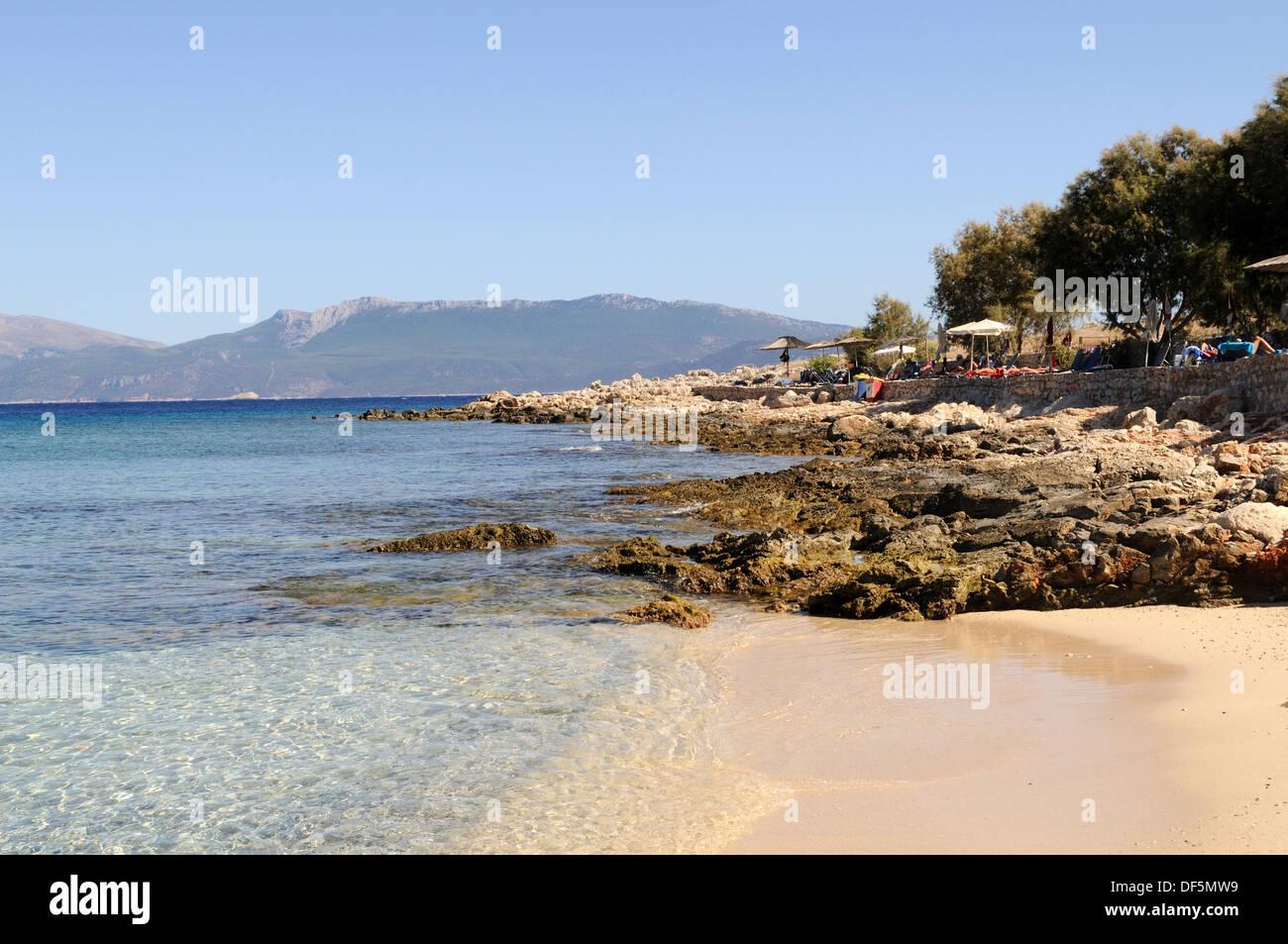 Ftenagia Beach Halki Chalki Aegean Sea The Dodecanese Greece - Stock Image
