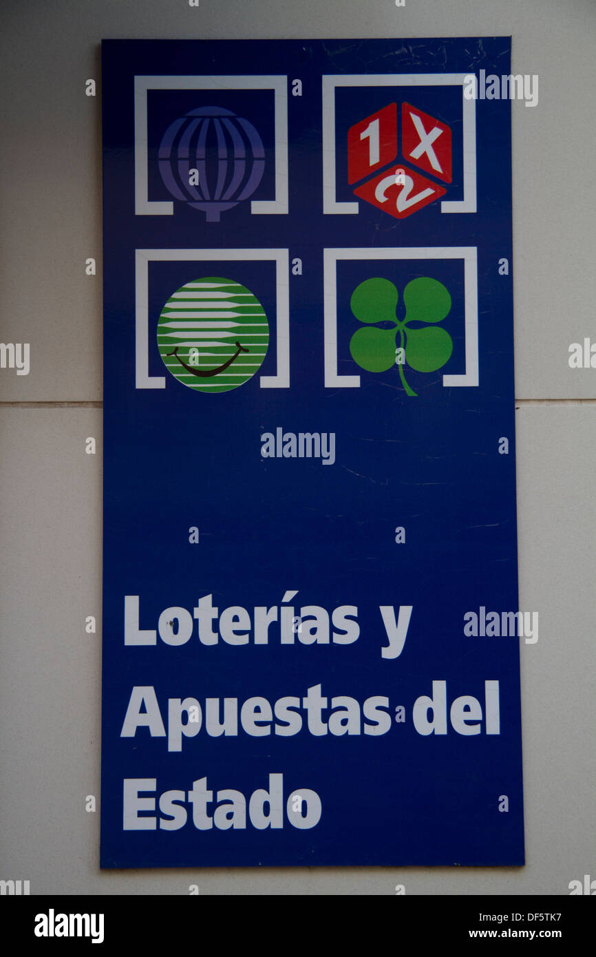Spanish Lottery Sign Stock Photo: 60980059 - Alamy