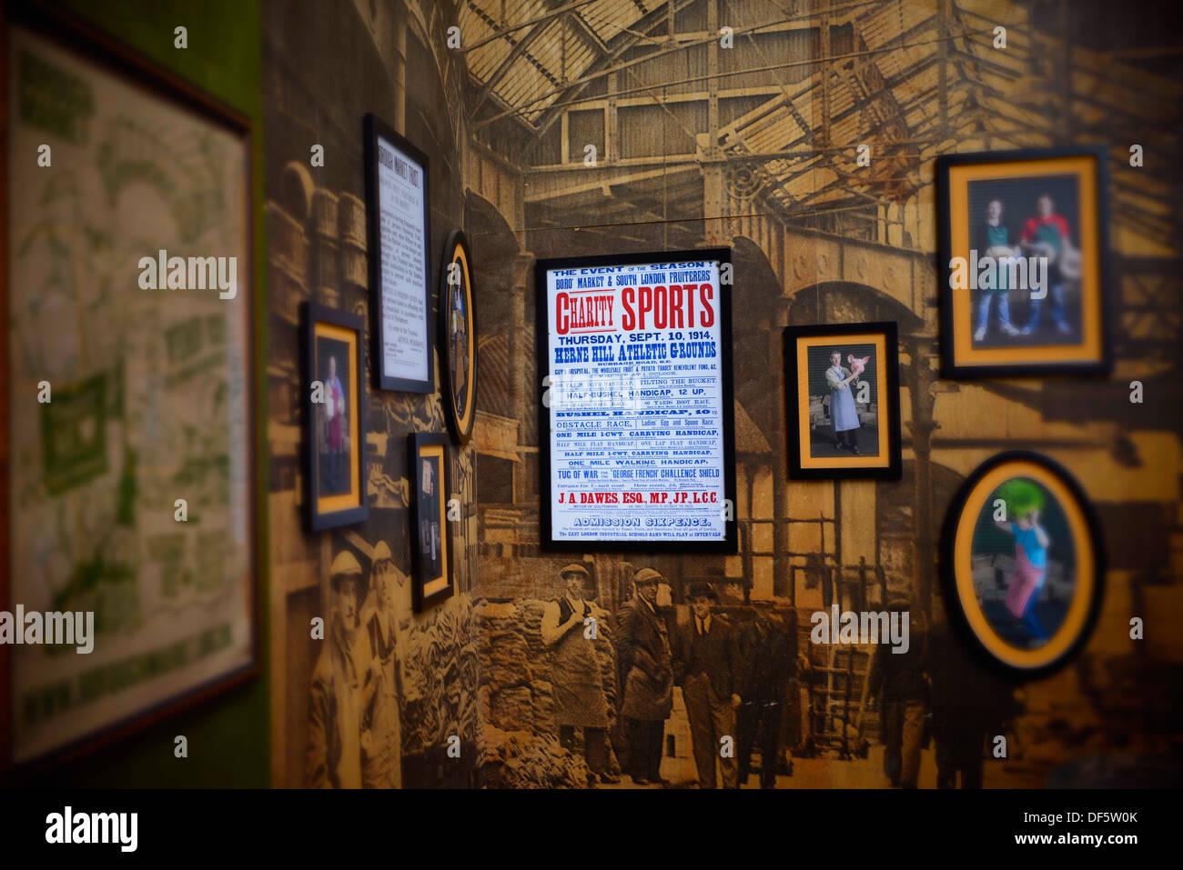 Borough Market, Sign, Sports, Vintage - Stock Image