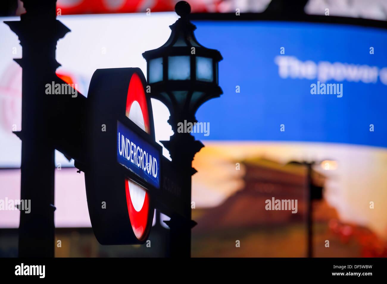 Underground Piccadilly Circus London England - Stock Image