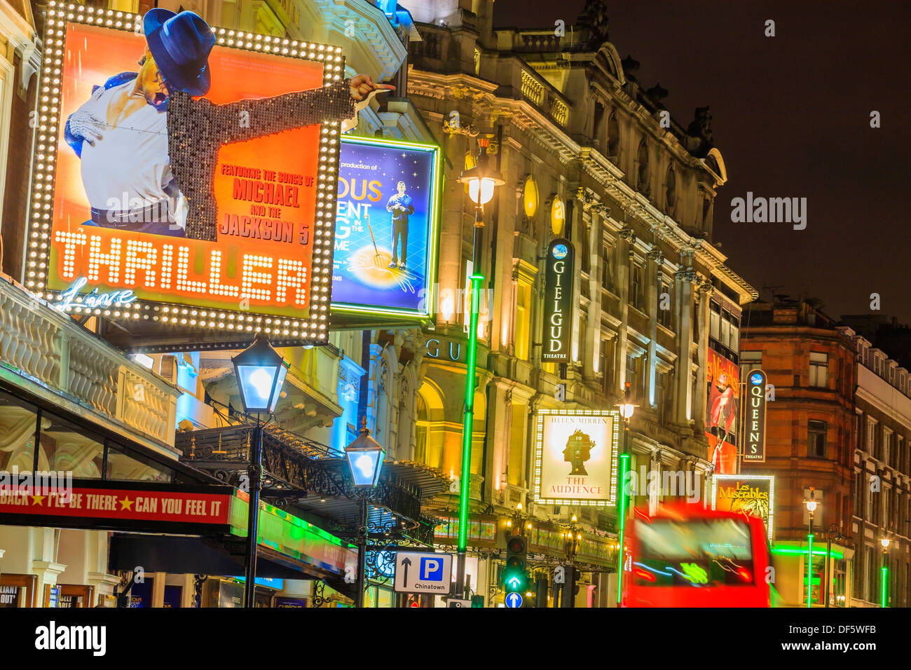 Lyric Theatre Shaftesbury Avenue London England in evening light - Stock Image