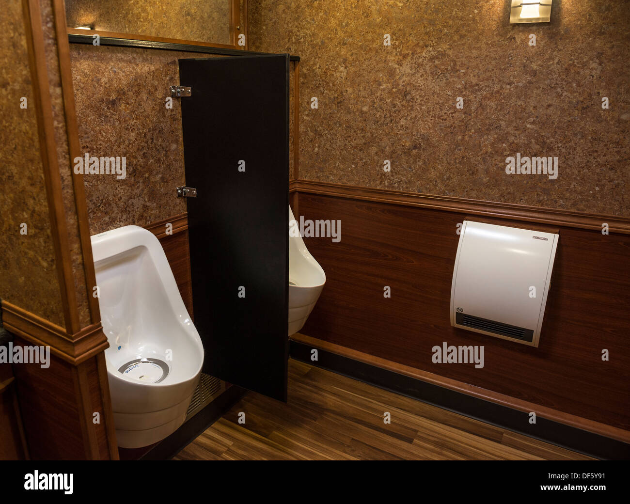 Luxury portable toilets or more commonly known as porta potties and porta loos. Stock Photo