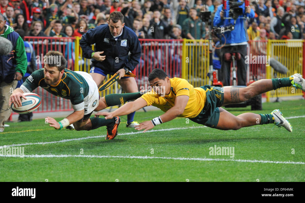 Cape Town, South Africa. 28 Sept 2013. , during the Castle Lager Rugby Championship test match between South Africa (Sprinkboks) and Australia (Wallabies) at DHL Newlands in Cape Town. Photo by Roger Sedres/ ImageSA - Stock Image