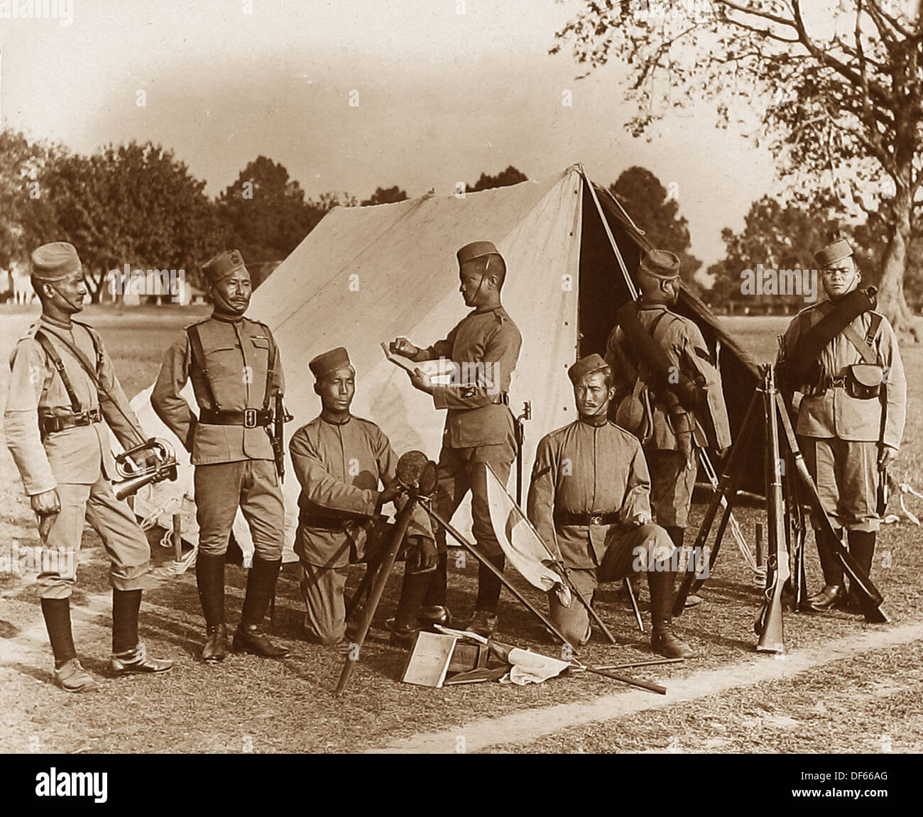 2nd Prince of Wales Own Gurkha Regiment - The Sirmoor Rifles - Victorian period - Stock Image