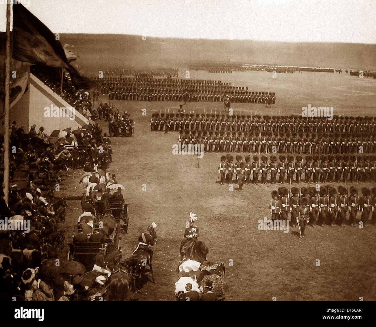 Queen Victoria Diamond Jubilee Review at Aldershot - Guards - Victorian period - Stock Image