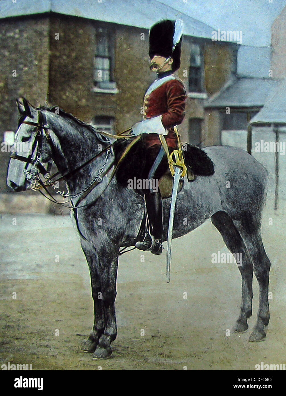 Sergeant Major in the 2nd Dragoon Guards Victorian period - Stock Image