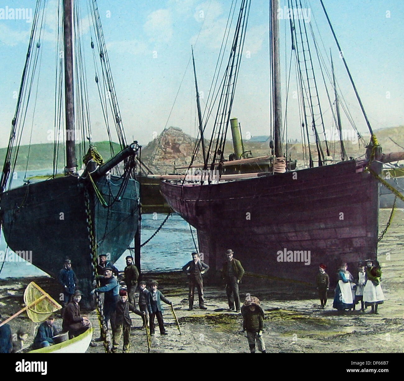 Hugh Town Isles of Scilly Victorian period - Stock Image