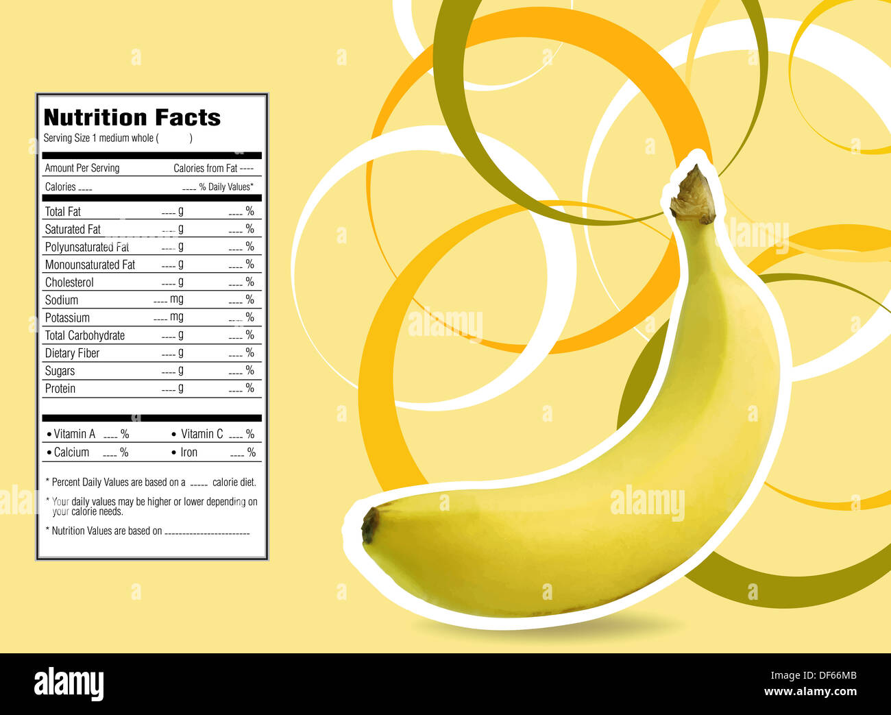 banana nutrition facts stock photos & banana nutrition facts stock