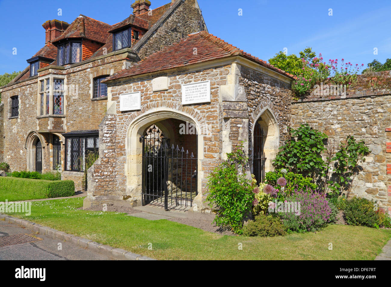The Armoury and village pump Winchelsea East Sussex England UK - Stock Image