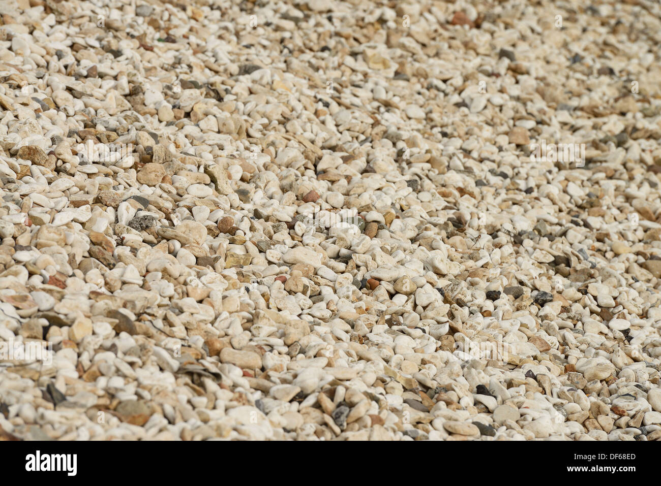 Beach pebbles abstract background pattern - Stock Image