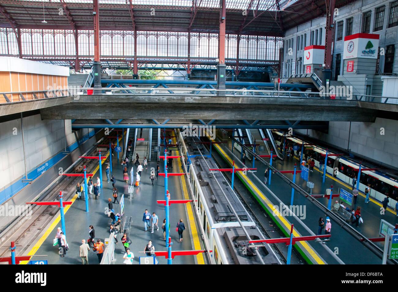 Principe Pio Metro Station Madrid Spain Stock Photo