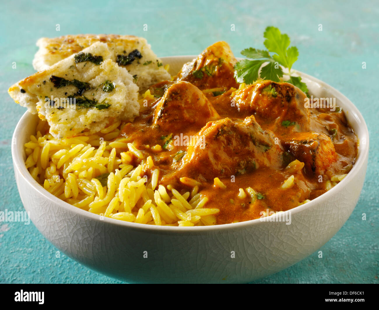 Chicken Bhuna Indian Chicken Curry - Stock Image