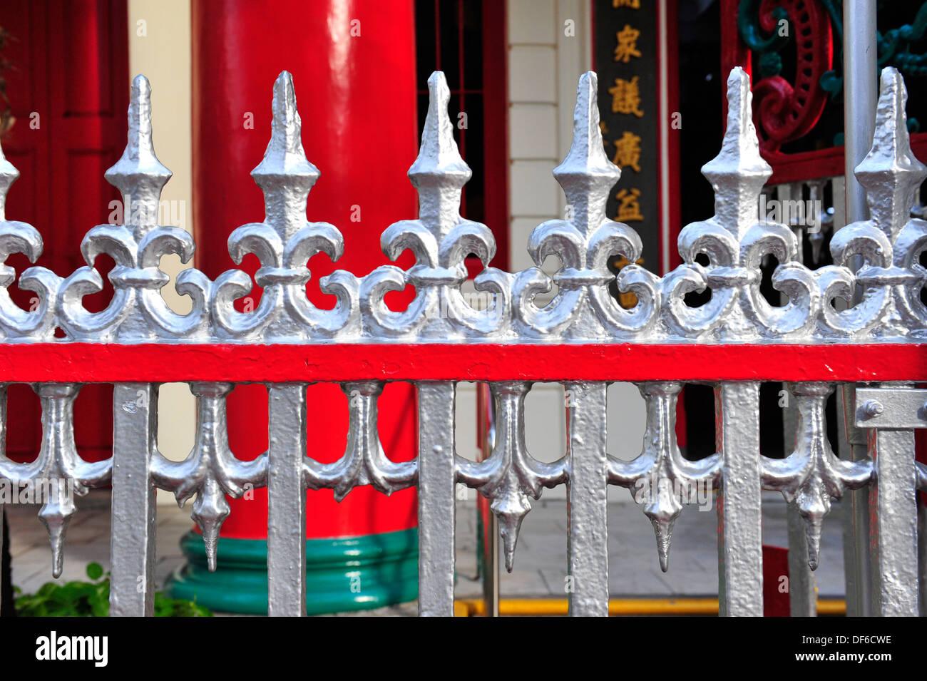 Old wrought iron fences - Stock Image