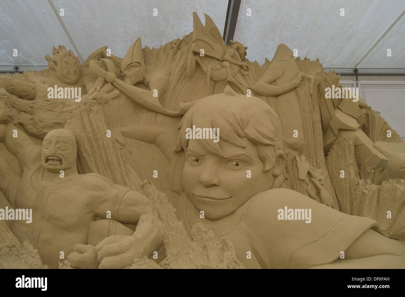 sci fi sand sculpture - Stock Image