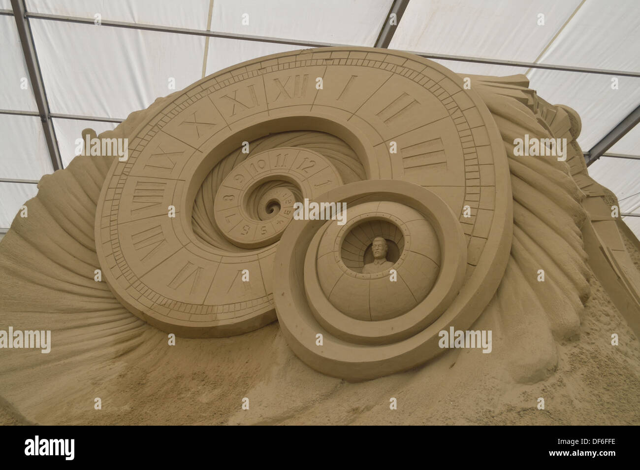 sci fi sand sculpture Stock Photo