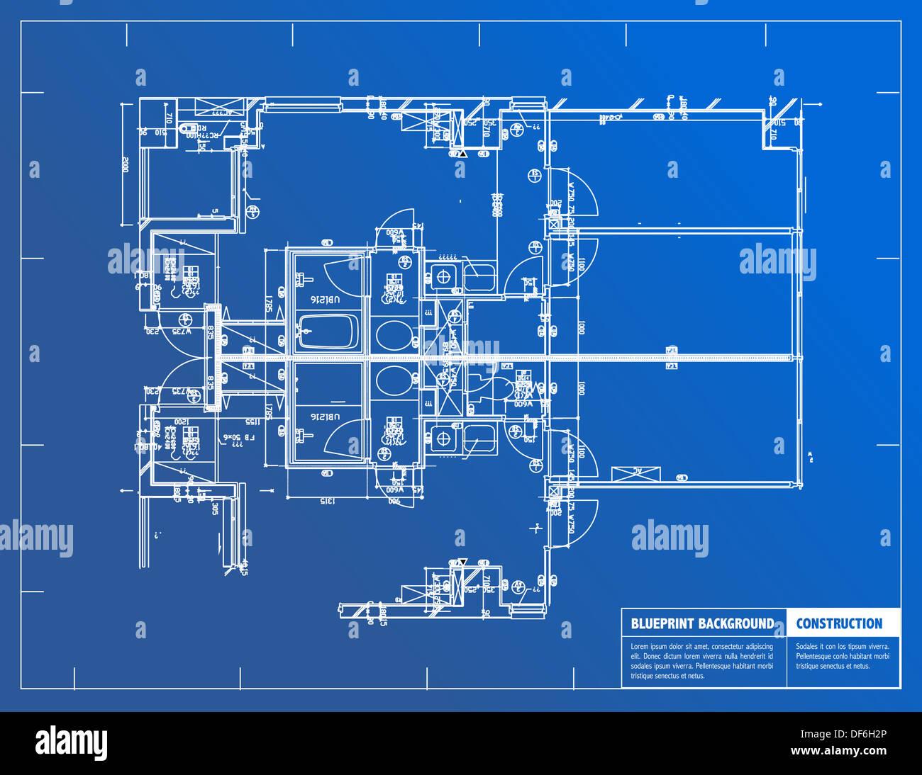 Plumbing blueprint diagram stock photos plumbing blueprint diagram sample of architectural blueprints over a blue background blueprint stock image malvernweather Images