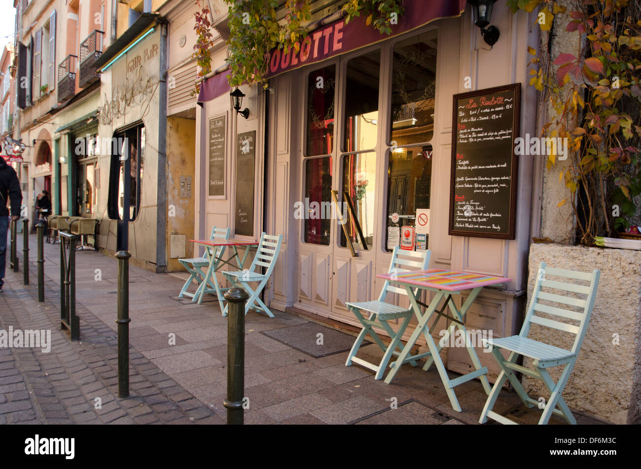 France, Toulouse, Bistrot, Color, Color image , Colour , Horizontal , Quiet, Tourist - Stock Image