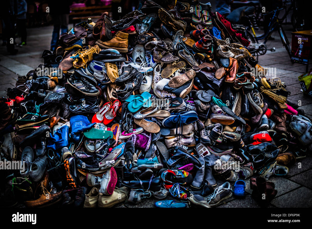 A Big Colorful Pile Of Shoes This Was Used To Show How