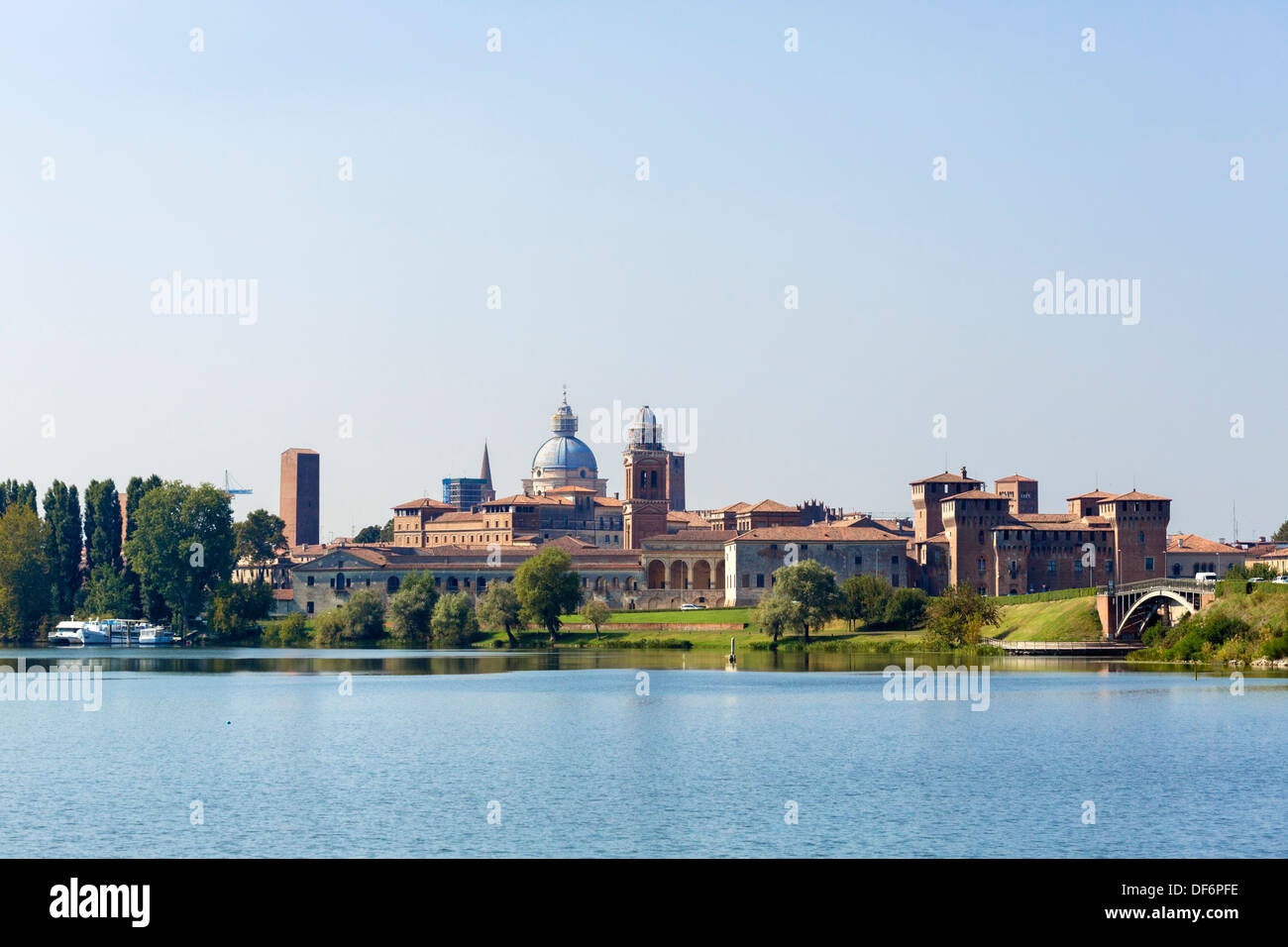 Skyline of the city of Mantua, Lombardy, Italy - Stock Image