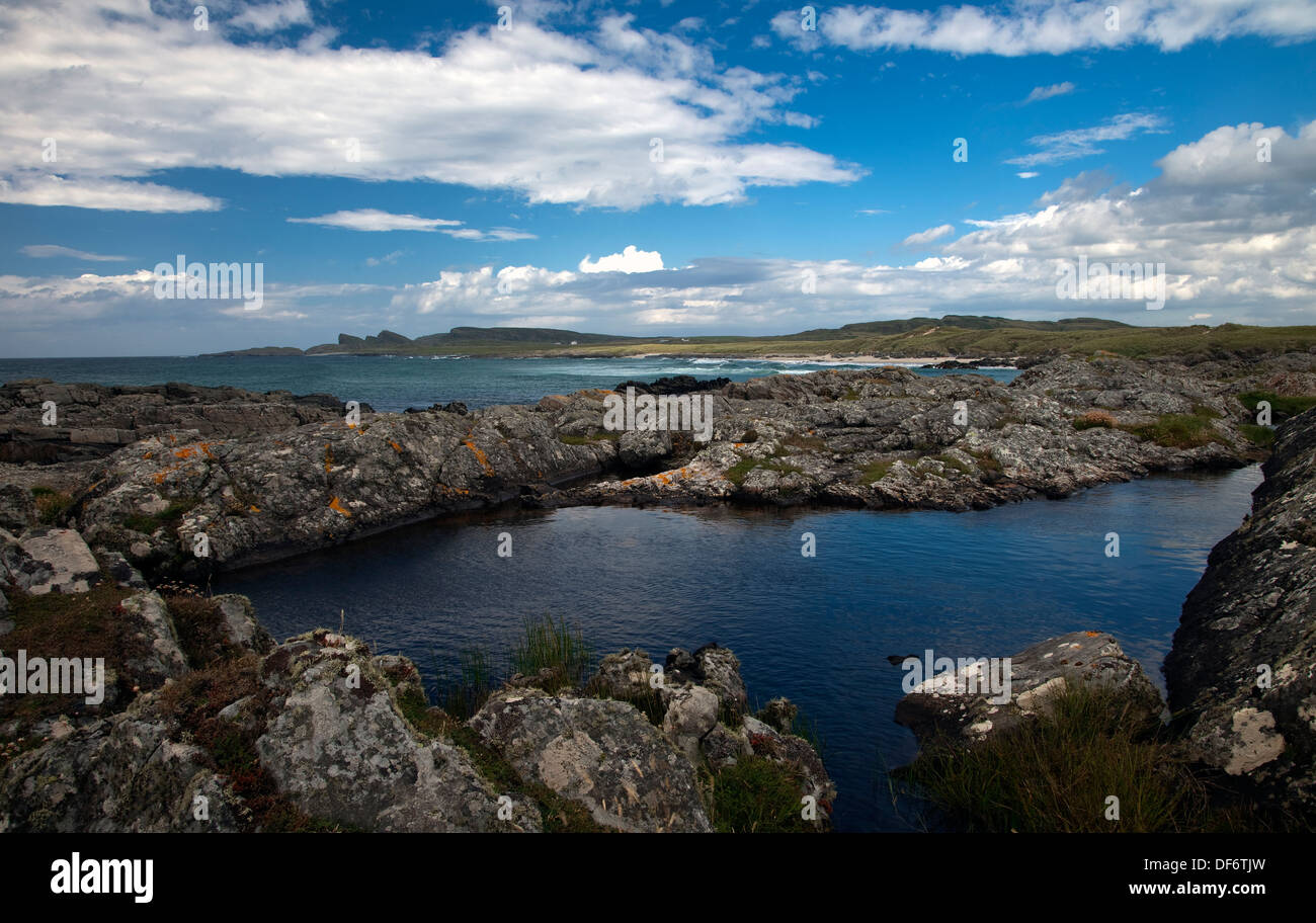 Saligo Rocks, Islay - Stock Image