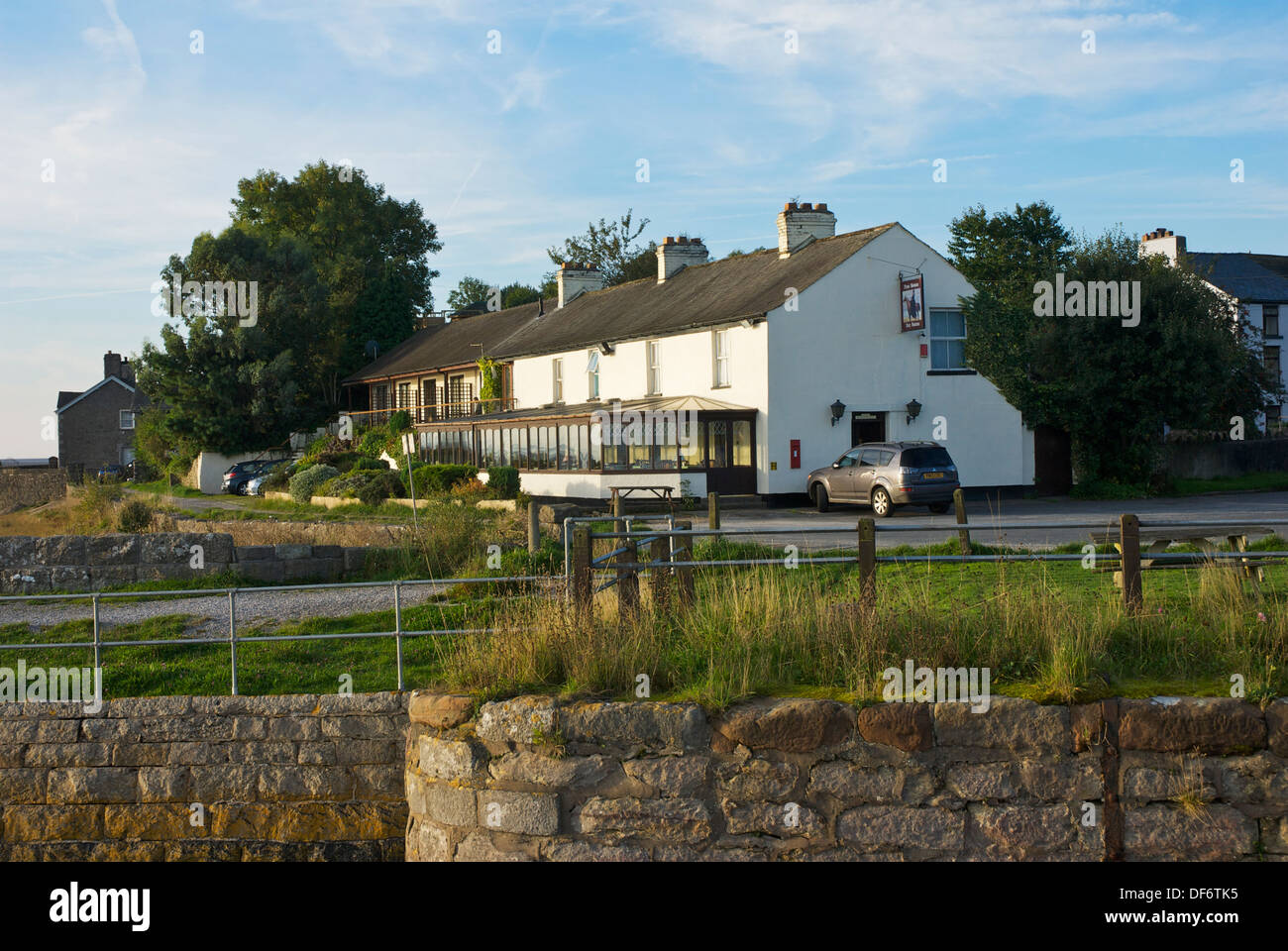 The Bay Horse pub, hotel & restaurant, at Canal End, Ulverston, Cumbria, England UK - Stock Image