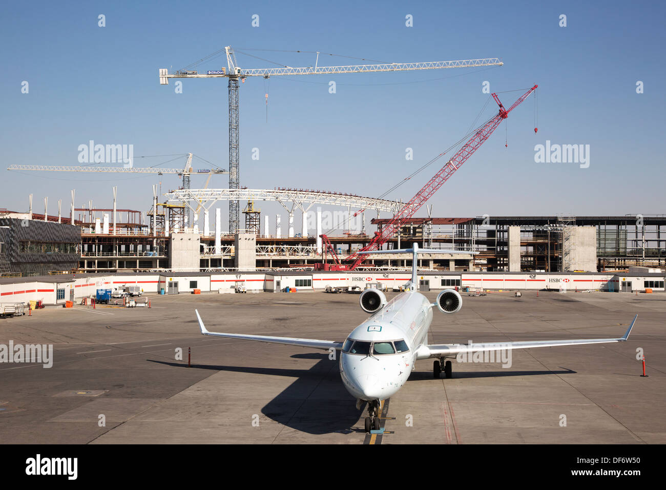 Airport construction - Stock Image