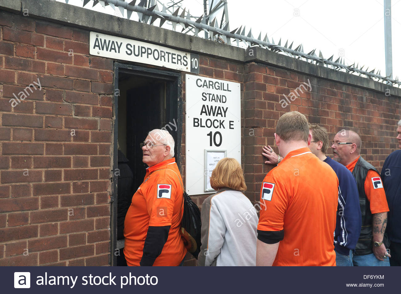 Away Team Supporters From Luton Town Fc Enter The Stadium Of Hereford Stock Photo Alamy