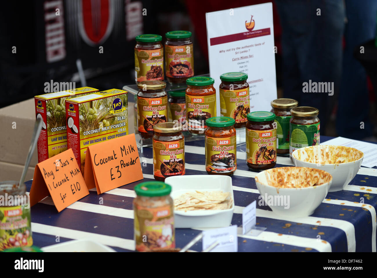 London, UK 29 Sept 2013 : Stall of Hot Chilli product's at Spitalfields City Farm. © See Li/Alamy Live News - Stock Image