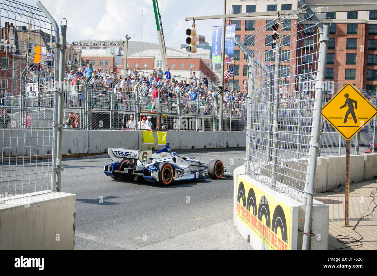 Track side at the Baltimore Grand Prix - Stock Image