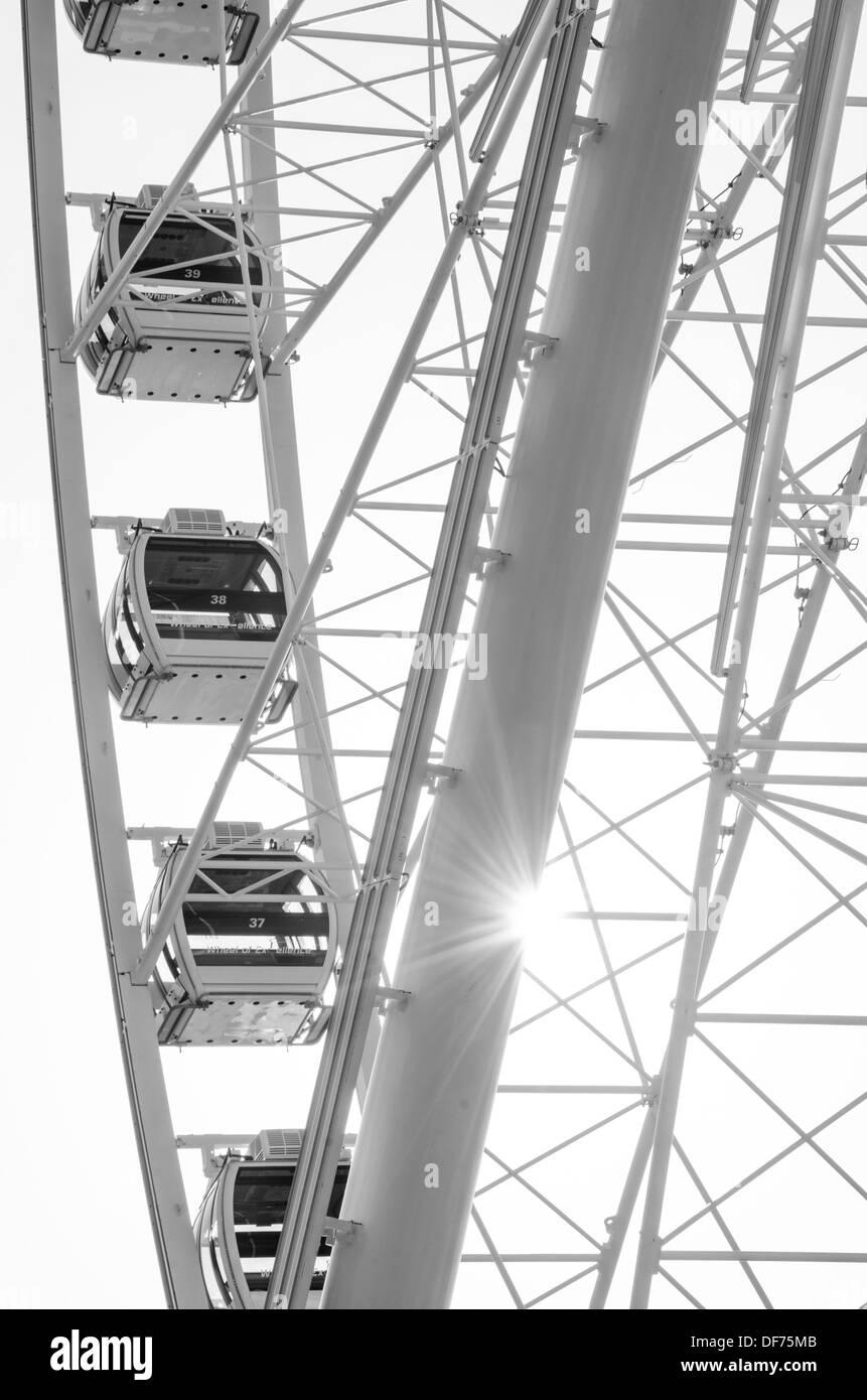 Ferris Wheel Sunstar - Stock Image