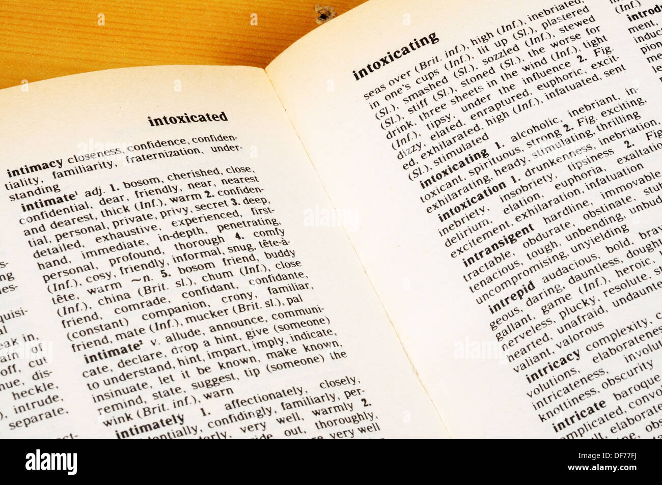 Pages of a Thesaurus Stock Photo: 61010534 - Alamy