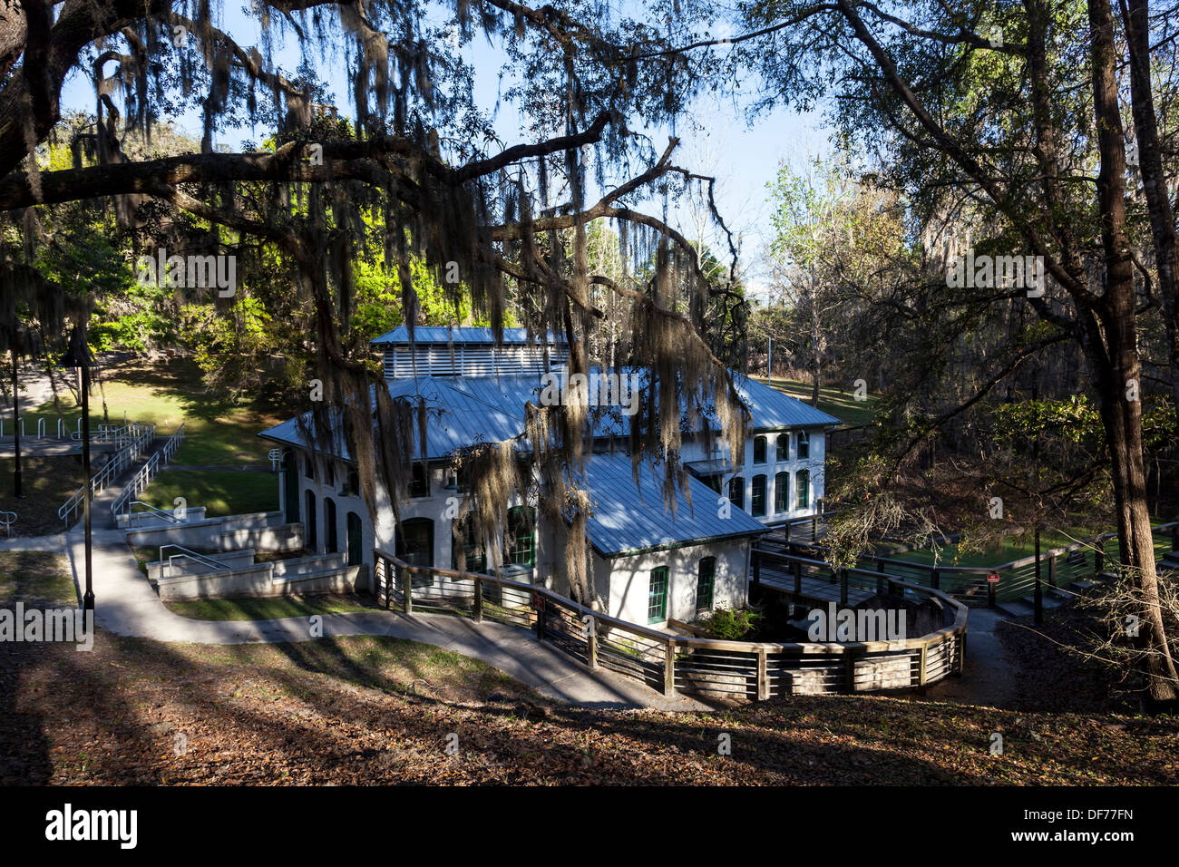 Boulware Springs Water Works,  the original Gainesville water plant, was first tapped in 1898. - Stock Image