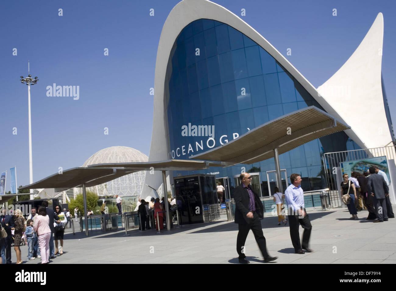 Oceanogràfic (architect Felix Candela), City of Arts and Sciences. Valencia. Spain - Stock Image