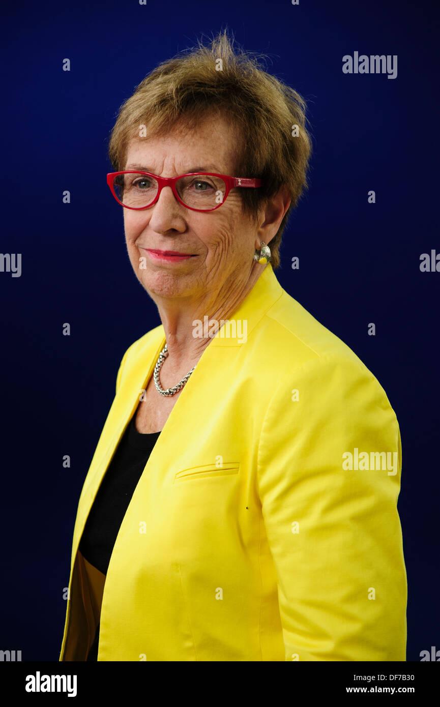Suzanne Corkin, Professor of Behavioral Neuroscience, attending at the Edinburgh International Book Festival 2013. - Stock Image
