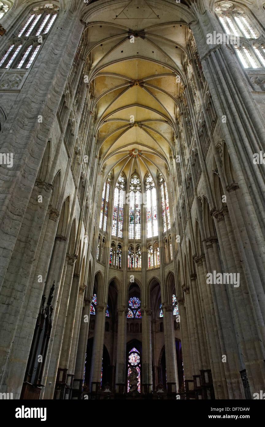 Saint Pierre Cathedral, Beauvais, Département Oise, Picardie, France - Stock Image
