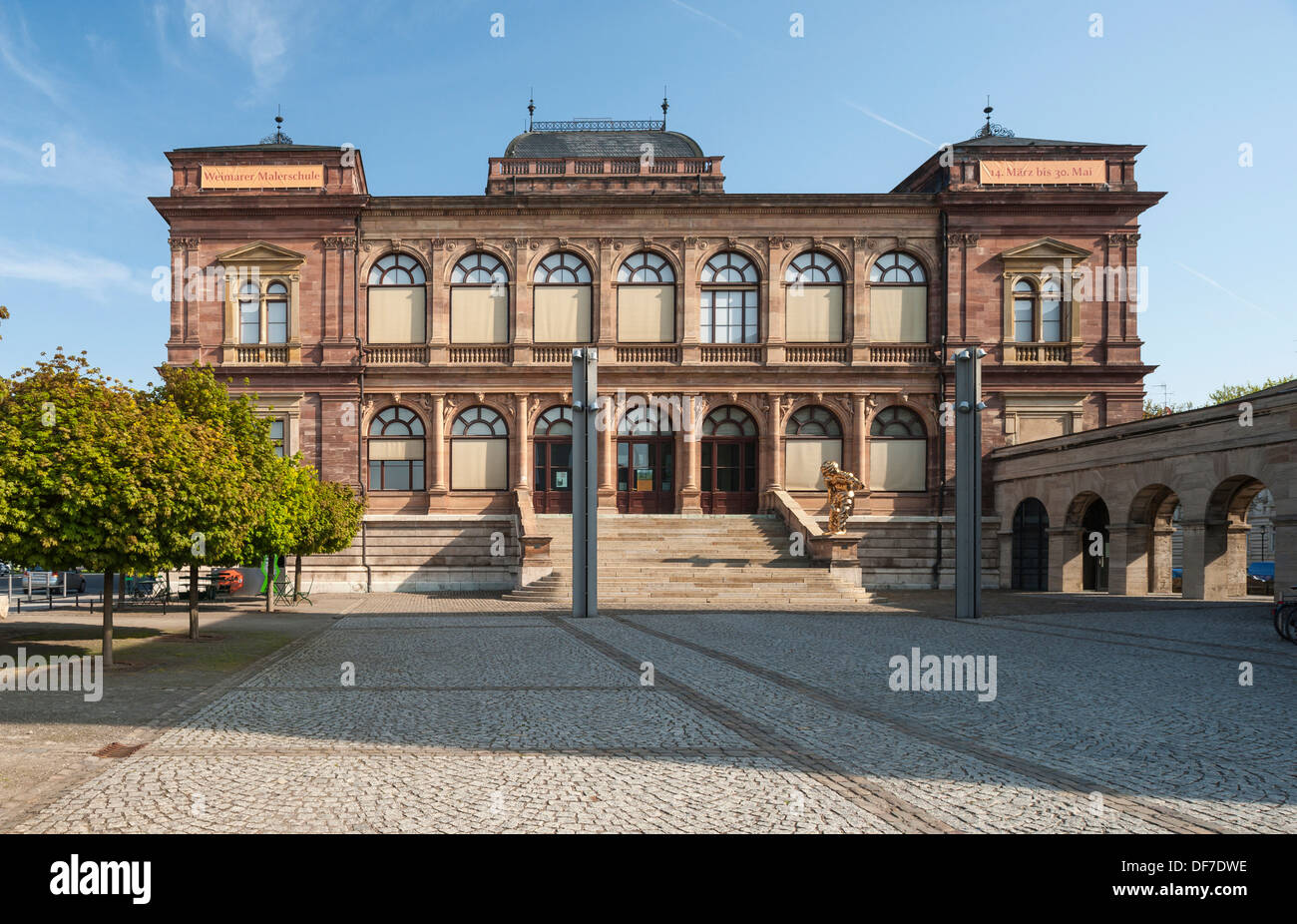 New Museum, 1869, building for art exhibitions, Weimar, Thuringia, Germany - Stock Image
