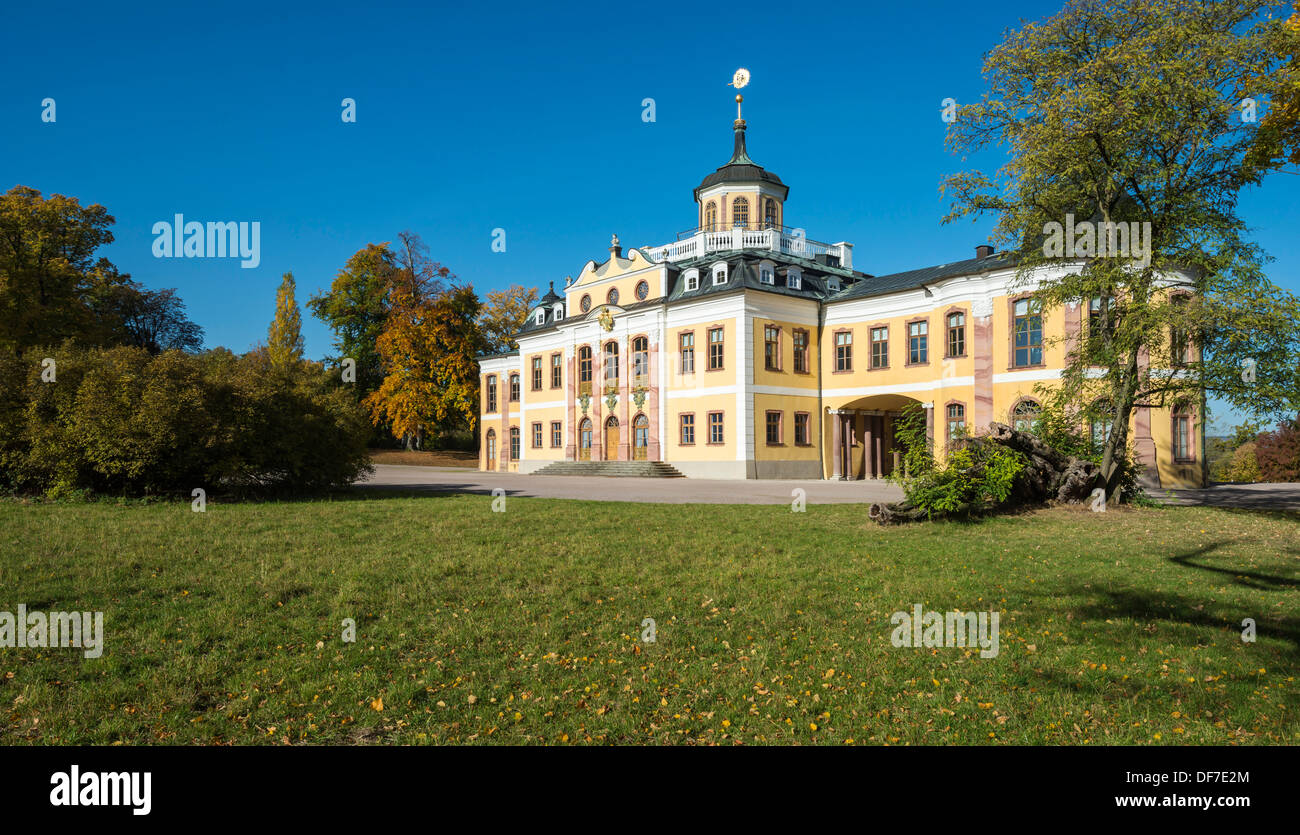 Schloss Belvedere Palace, now the Museum of Arts and Crafts of the 18th century, UNESCO World Cultural Heritage Site - Stock Image