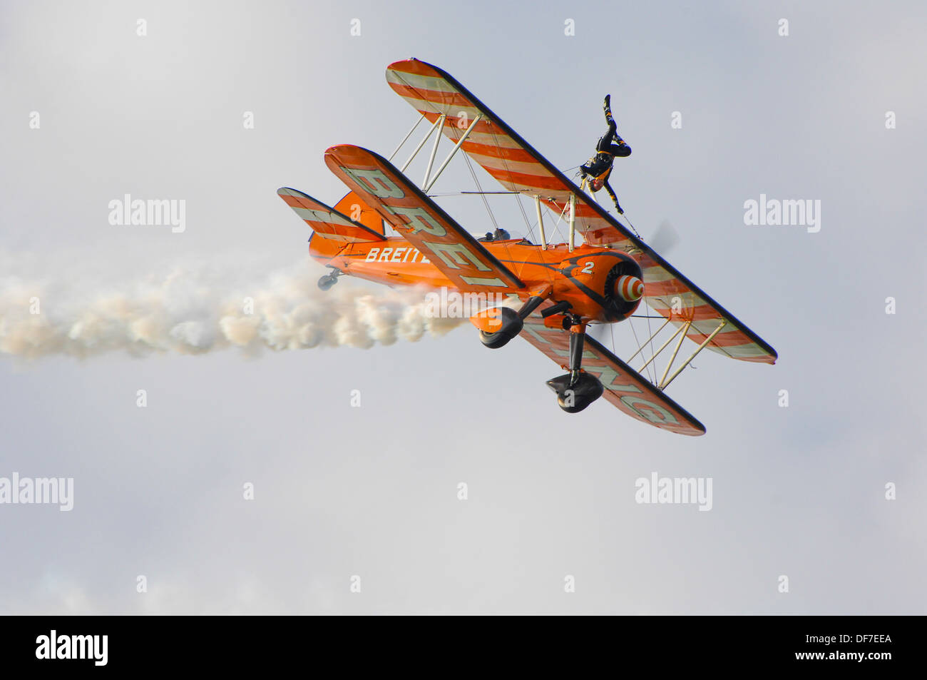Breitling wing walkers at Sywell airport - Stock Image