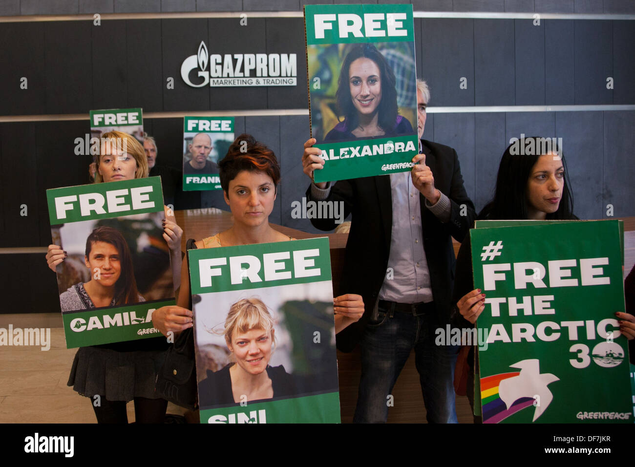 Detention of Greenpeace activists at the Gazprom office turned into a masquerade 05.09.2012 22