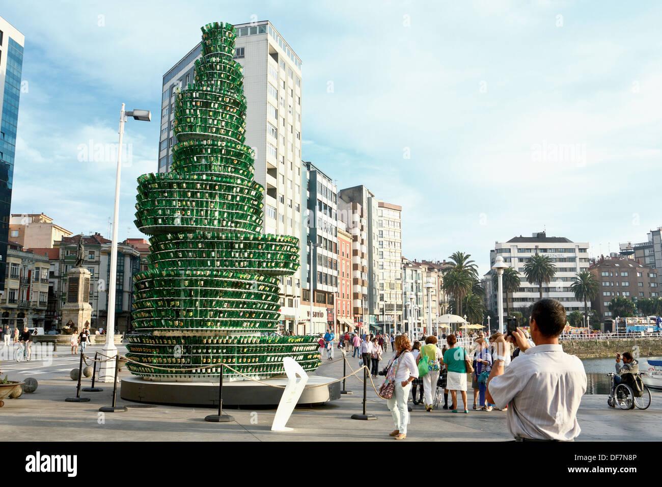The Tree of cider, Gijon, Asturias, Spain - Stock Image