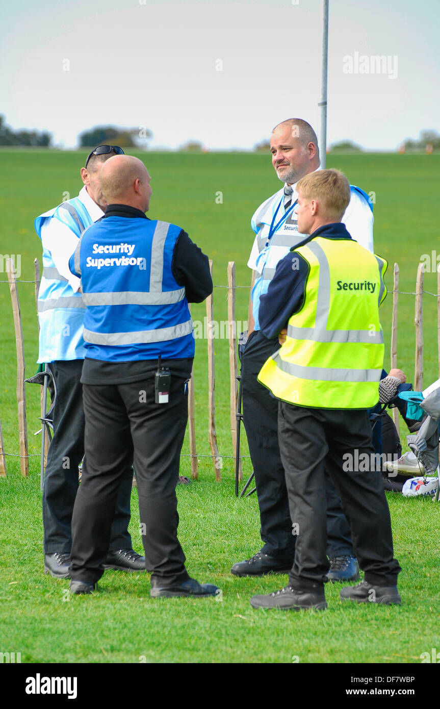Event security guards at Sywell aerodrome - Stock Image