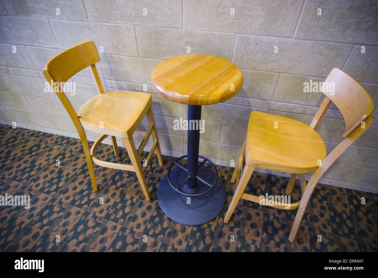 Table And Chairs In A College Lounge Stock Photo: 61030451 ...