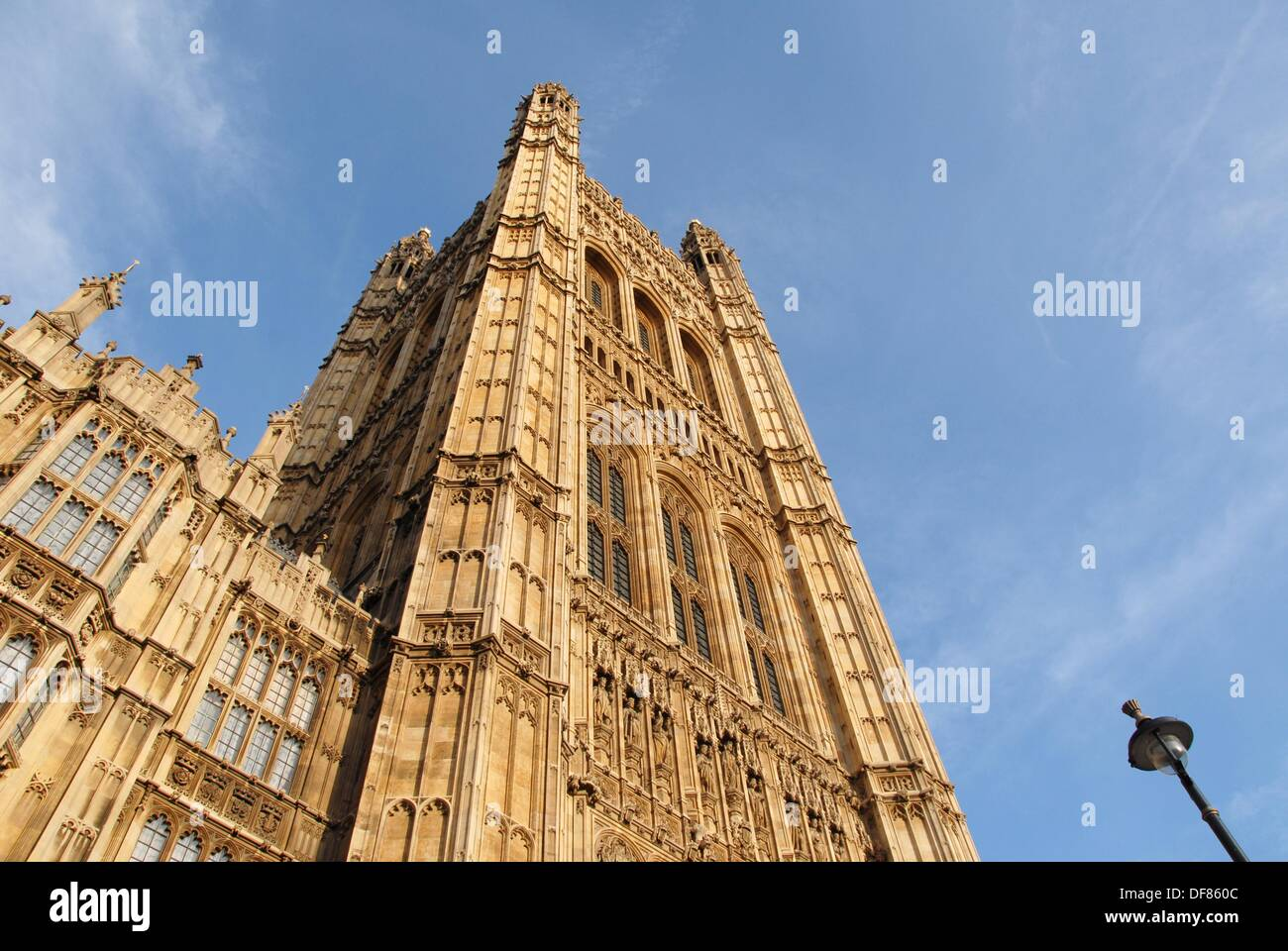 Victoria Tower. Houses of Parliament. Westminster Hall. Westminster, London, England, Great Britain, Europe. - Stock Image