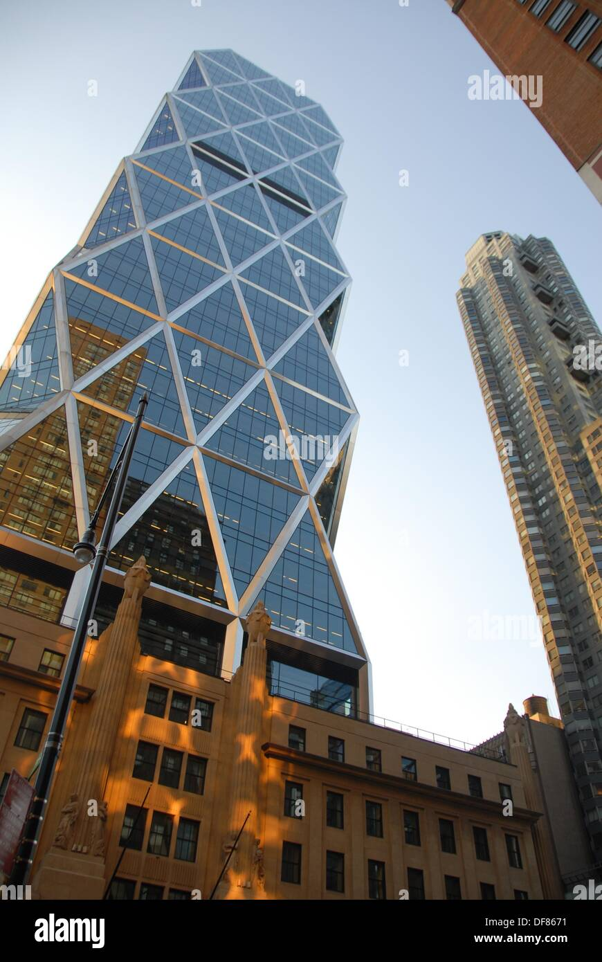 Norman Foster's Hearst Tower, built on top of the 1928 Hearst building in 2006., Northwest Manhattan, New York, New York. USA - Stock Image